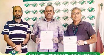 Prefeito assina termo de cooperação técnica na sede do Incra em Santarém