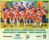 Abertura da 4ª edição do campeonato de futsal masculino e feminino.