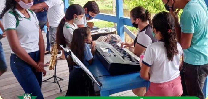 Projeto de musicalização chega às escolas das comunidades rurais